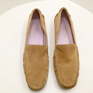 {Talbots} Suede/Leather Slip on Loafers